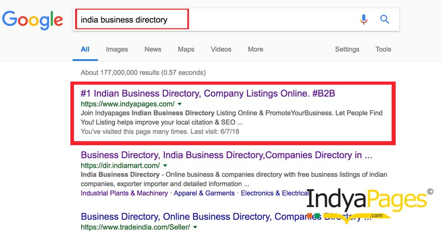 Top business directory - indyapages
