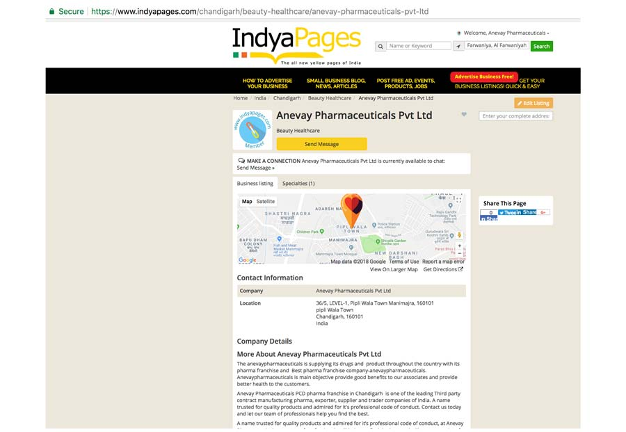 preview of best local business listed with IndyaPages